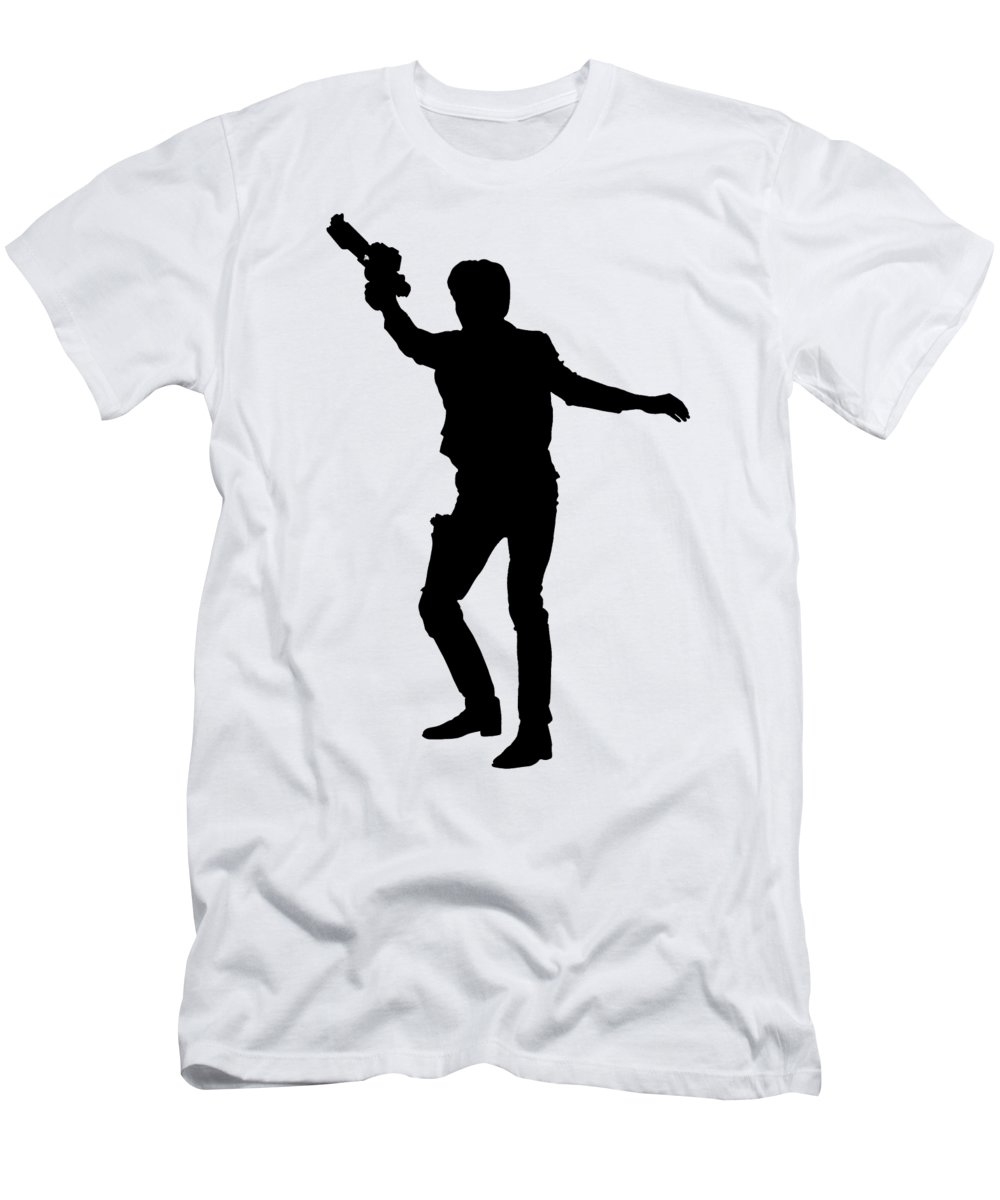 Han Men's T-Shirt (Athletic Fit) featuring the digital art Han Solo Star Wars Tee by Edward Fielding