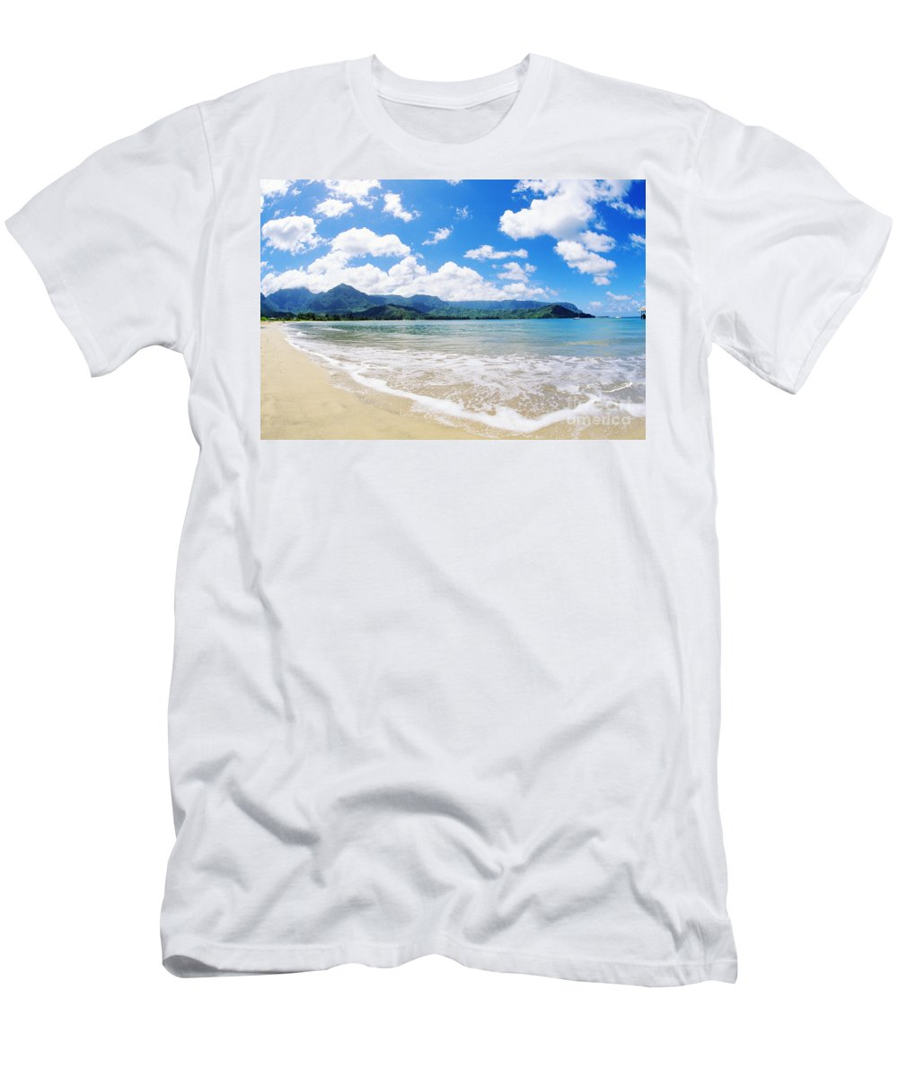 Afternoon Men's T-Shirt (Athletic Fit) featuring the photograph Hanalei Bay by Greg Vaughn - Printscapes