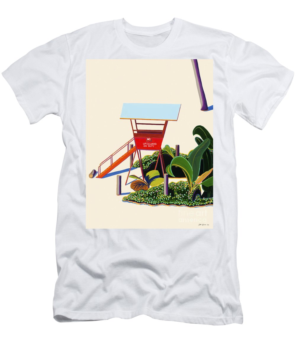Acrylic Men's T-Shirt (Athletic Fit) featuring the painting Hanauma Bay by Patti Bruce - Printscapes