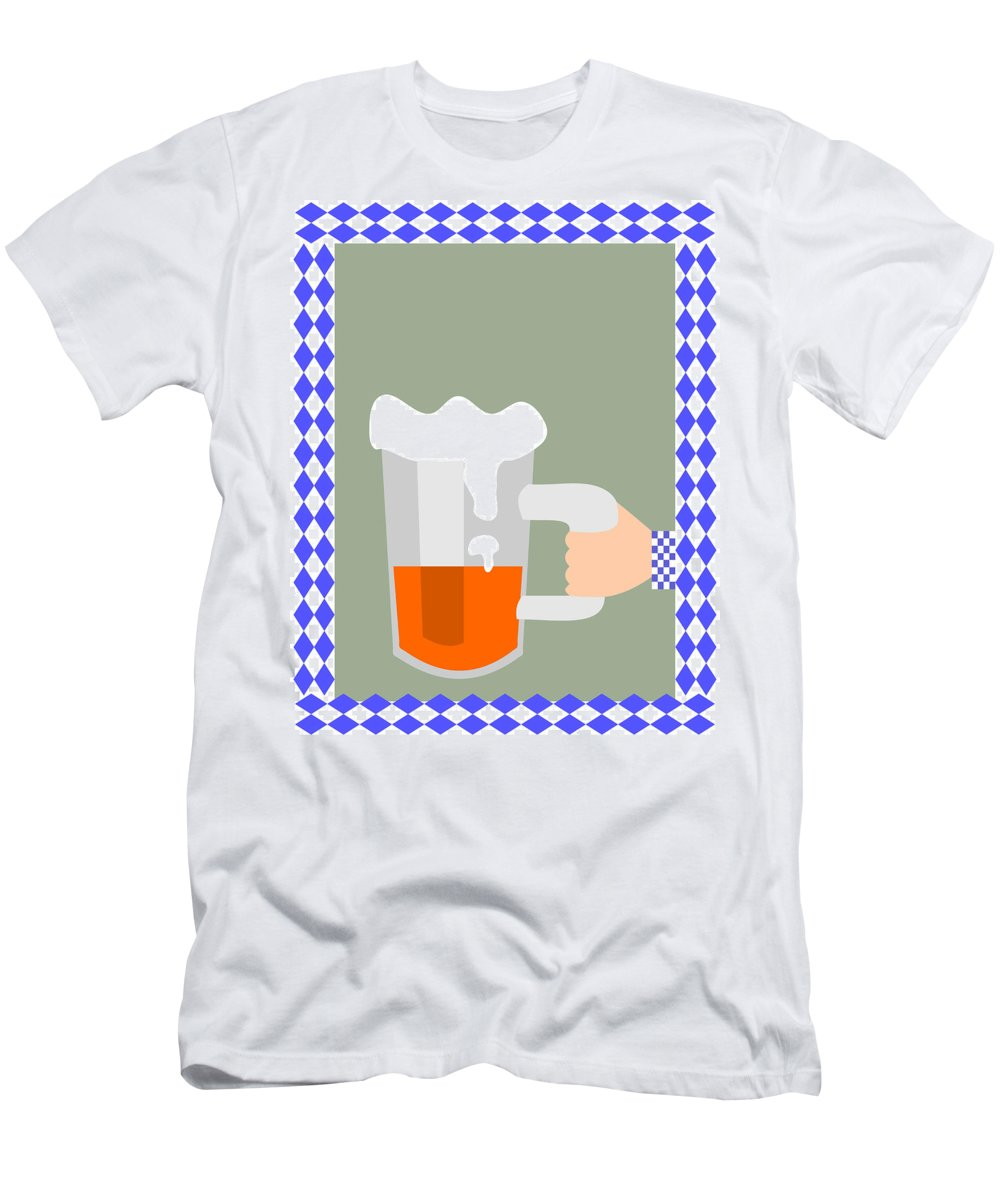 Abstract Men's T-Shirt (Athletic Fit) featuring the digital art Hand With Beer by Lenka Rottova