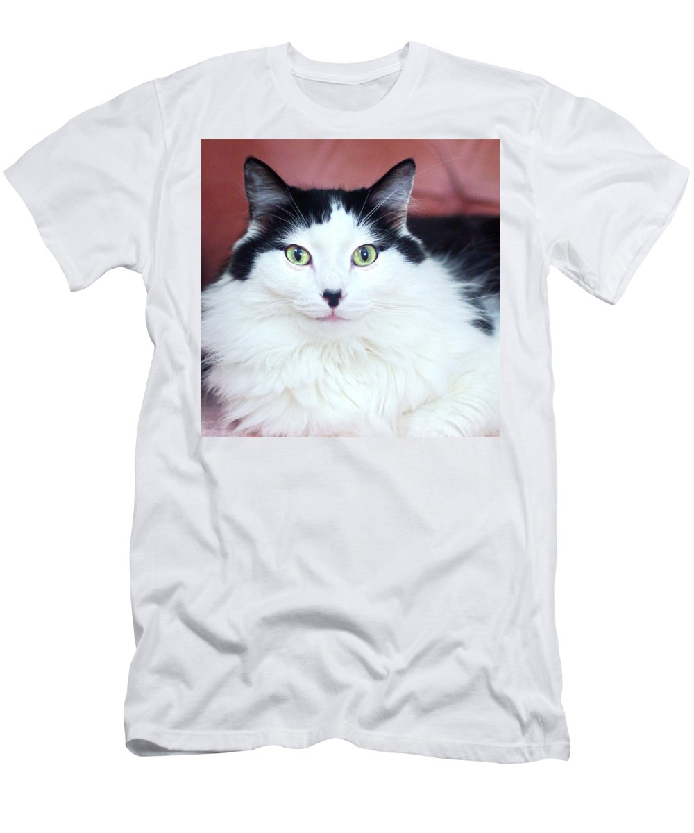 Cat Men's T-Shirt (Athletic Fit) featuring the photograph Handsome Tuxy by Byron Varvarigos
