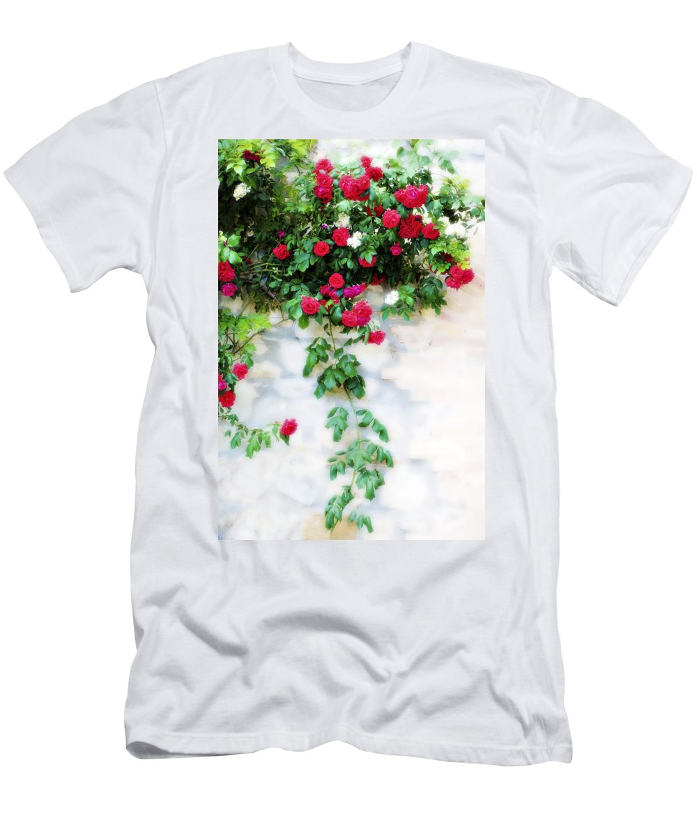 Hang Men's T-Shirt (Athletic Fit) featuring the photograph Hangin Roses by Marilyn Hunt