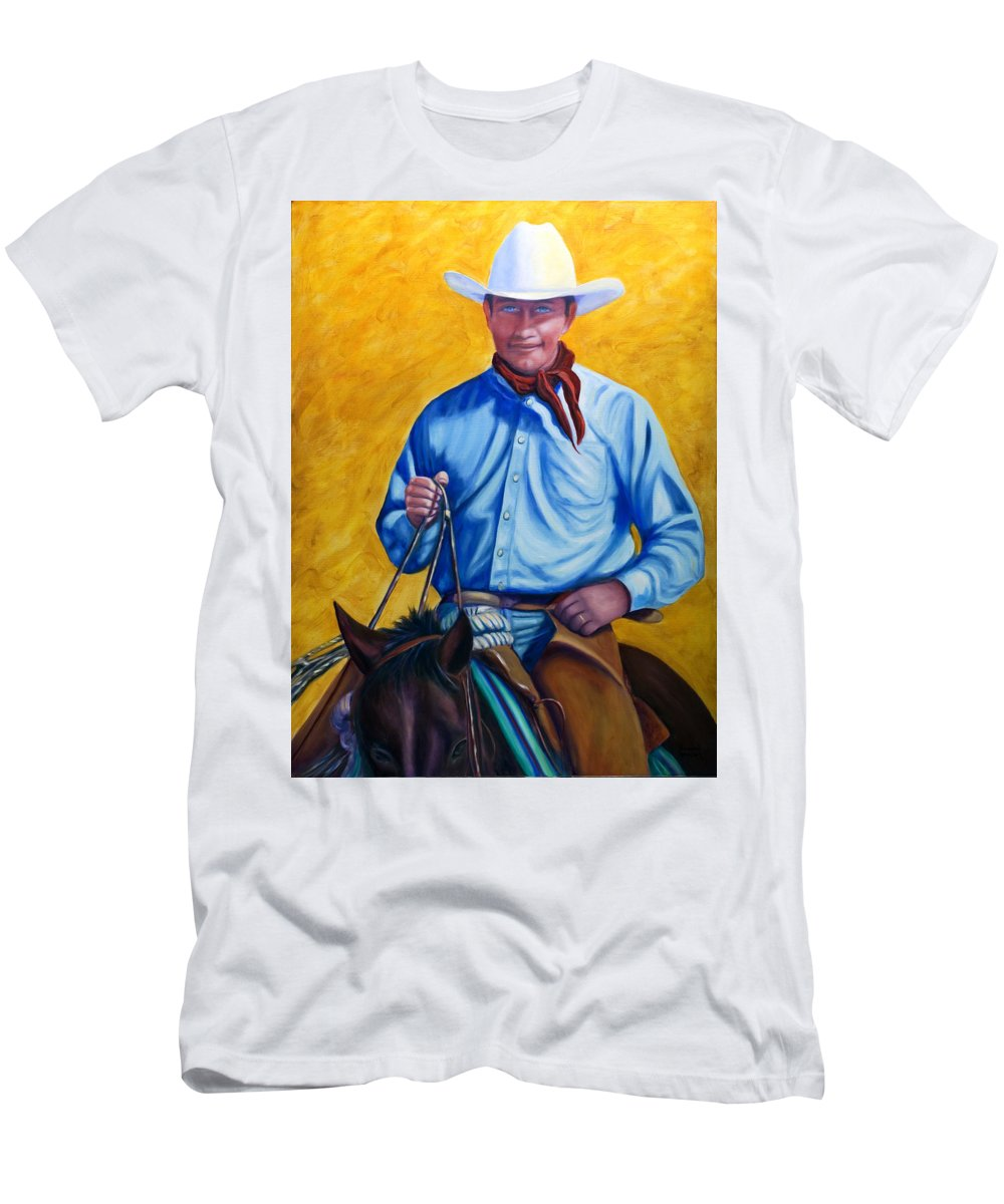 Cowboy Men's T-Shirt (Athletic Fit) featuring the painting Happy Trails by Shannon Grissom
