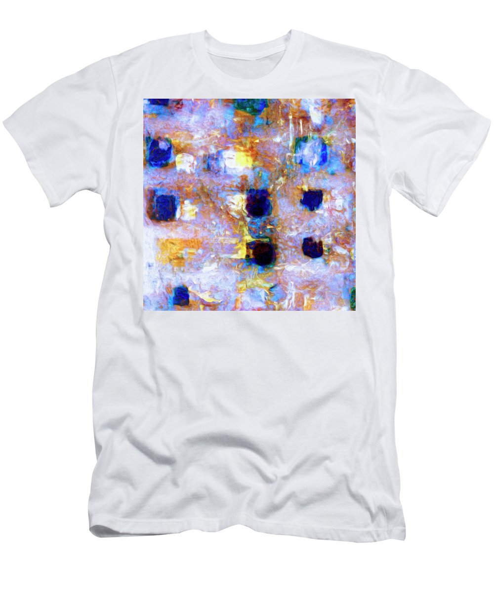 Abstract Men's T-Shirt (Athletic Fit) featuring the painting Hard Eight by Dominic Piperata