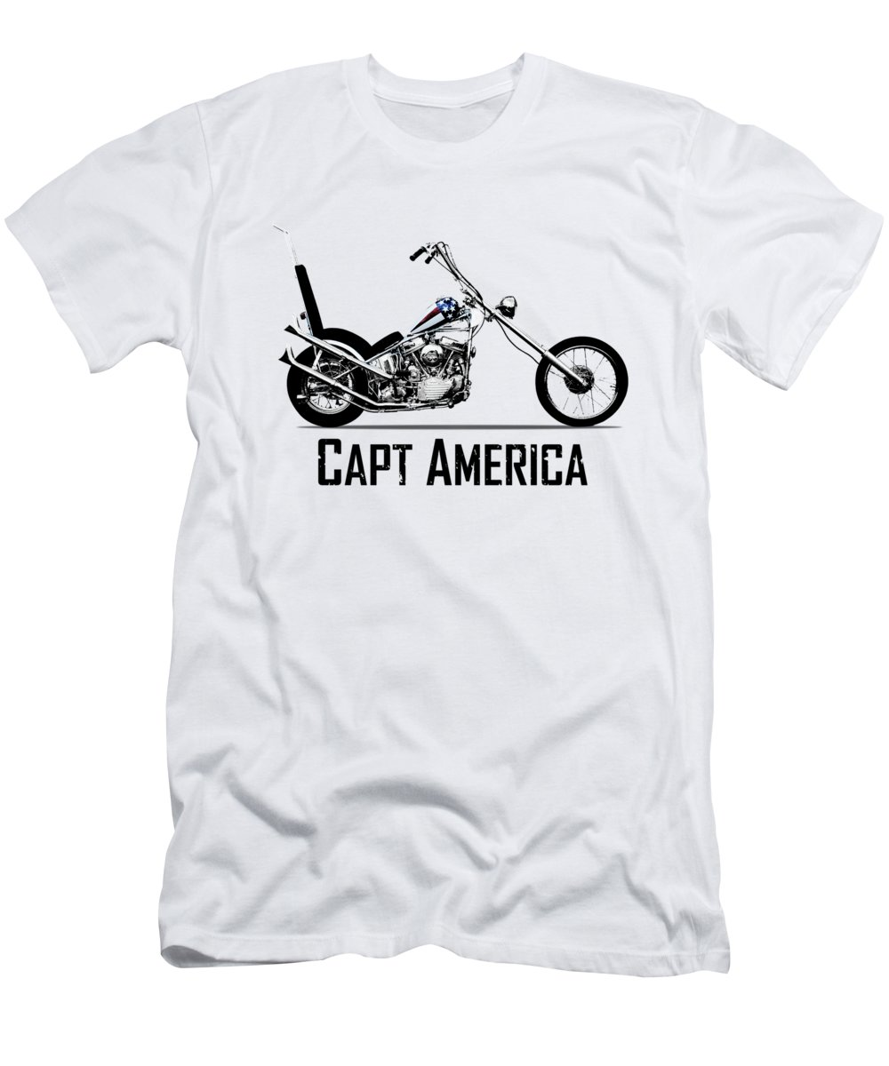 Captain America T-Shirt featuring the photograph Harley Captain America by Mark Rogan