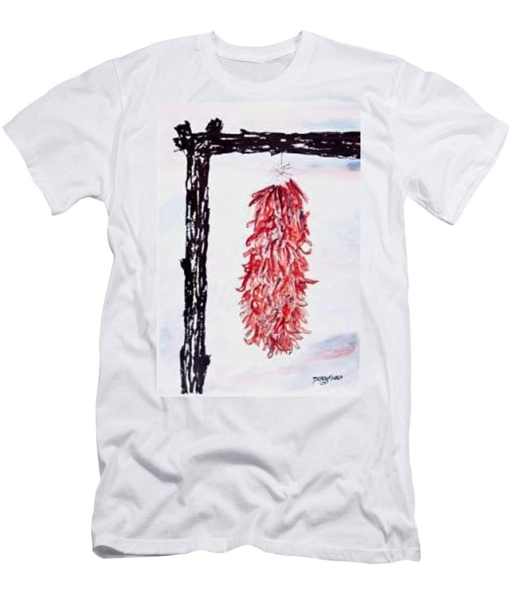 Watercolor Painting T-Shirt featuring the painting Hatch Texas Chili Pepper painting by Derek Mccrea