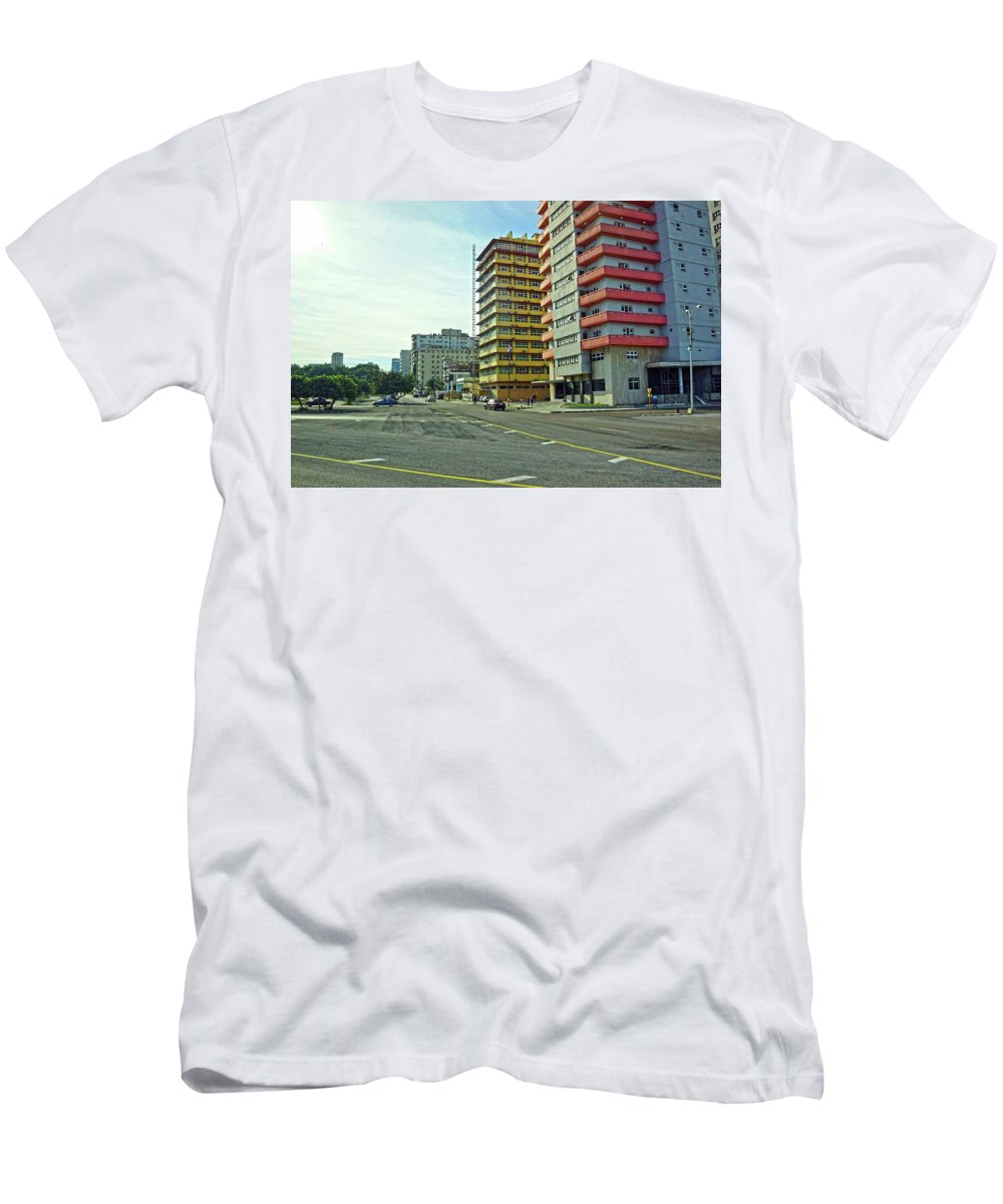 Havana Men's T-Shirt (Athletic Fit) featuring the photograph Havana-41 by Rezzan Erguvan-Onal