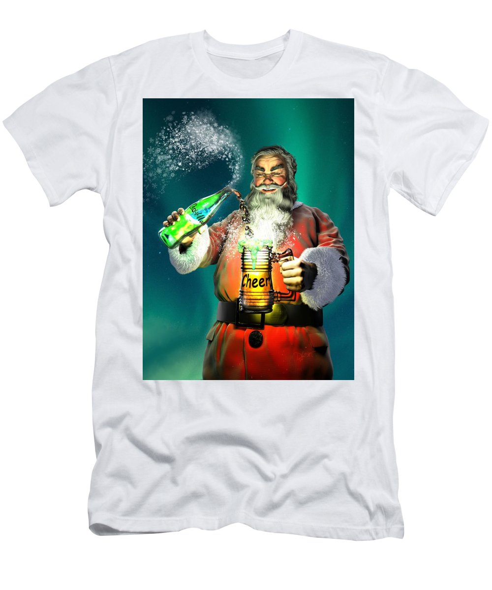 Have A Cup Of Cheer Men's T-Shirt (Athletic Fit) featuring the digital art Have A Cup Of Cheer by Dave Luebbert