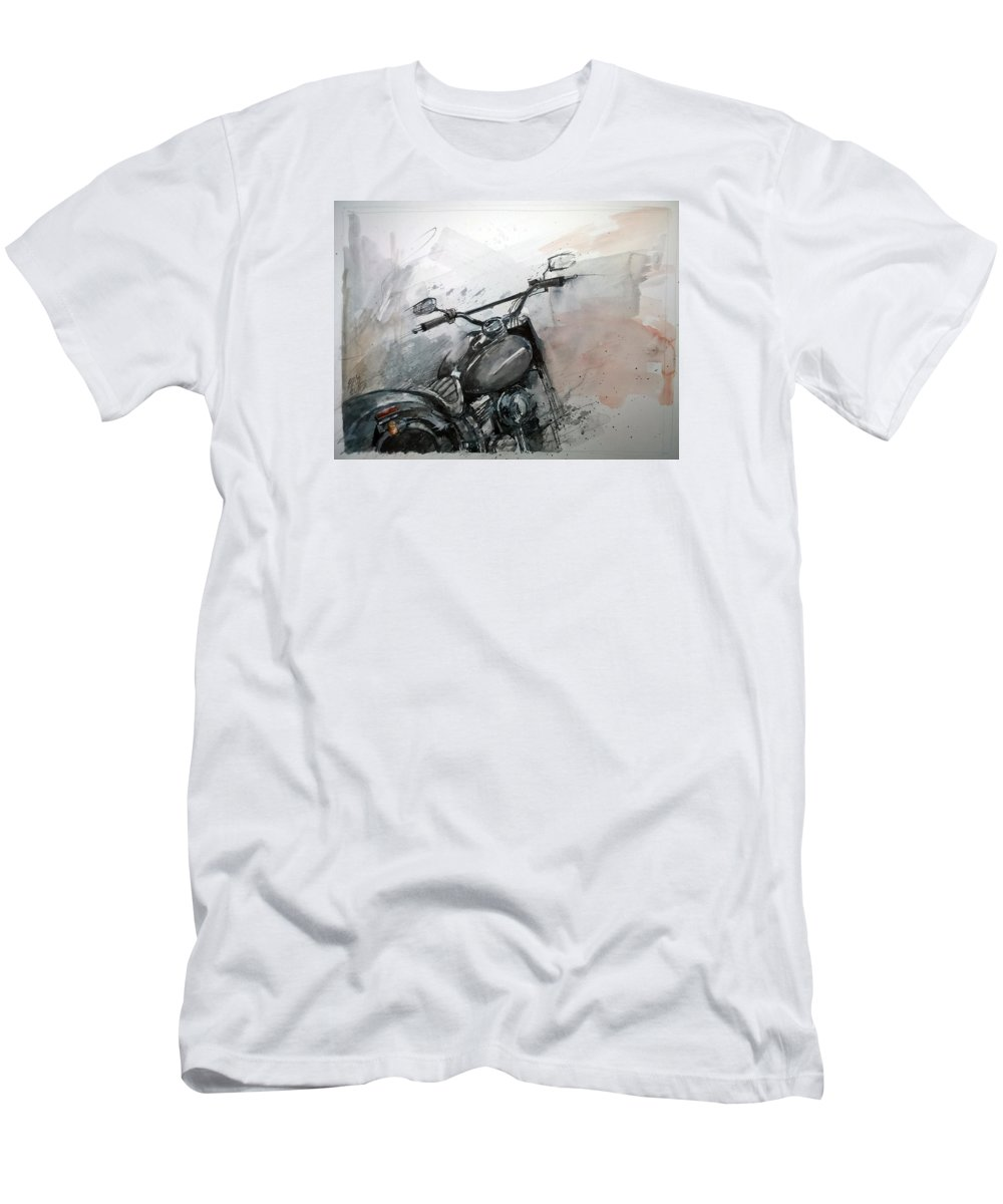 Vintage Men's T-Shirt (Athletic Fit) featuring the painting Hd Detail by Lorand Sipos