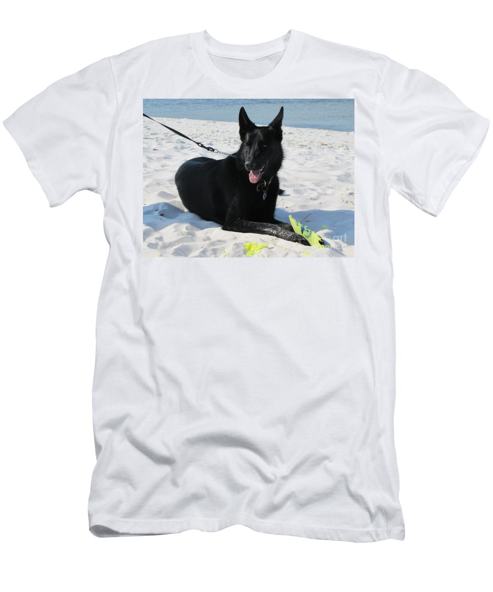 German Shepard Men's T-Shirt (Athletic Fit) featuring the photograph Heidi by Michelle Powell