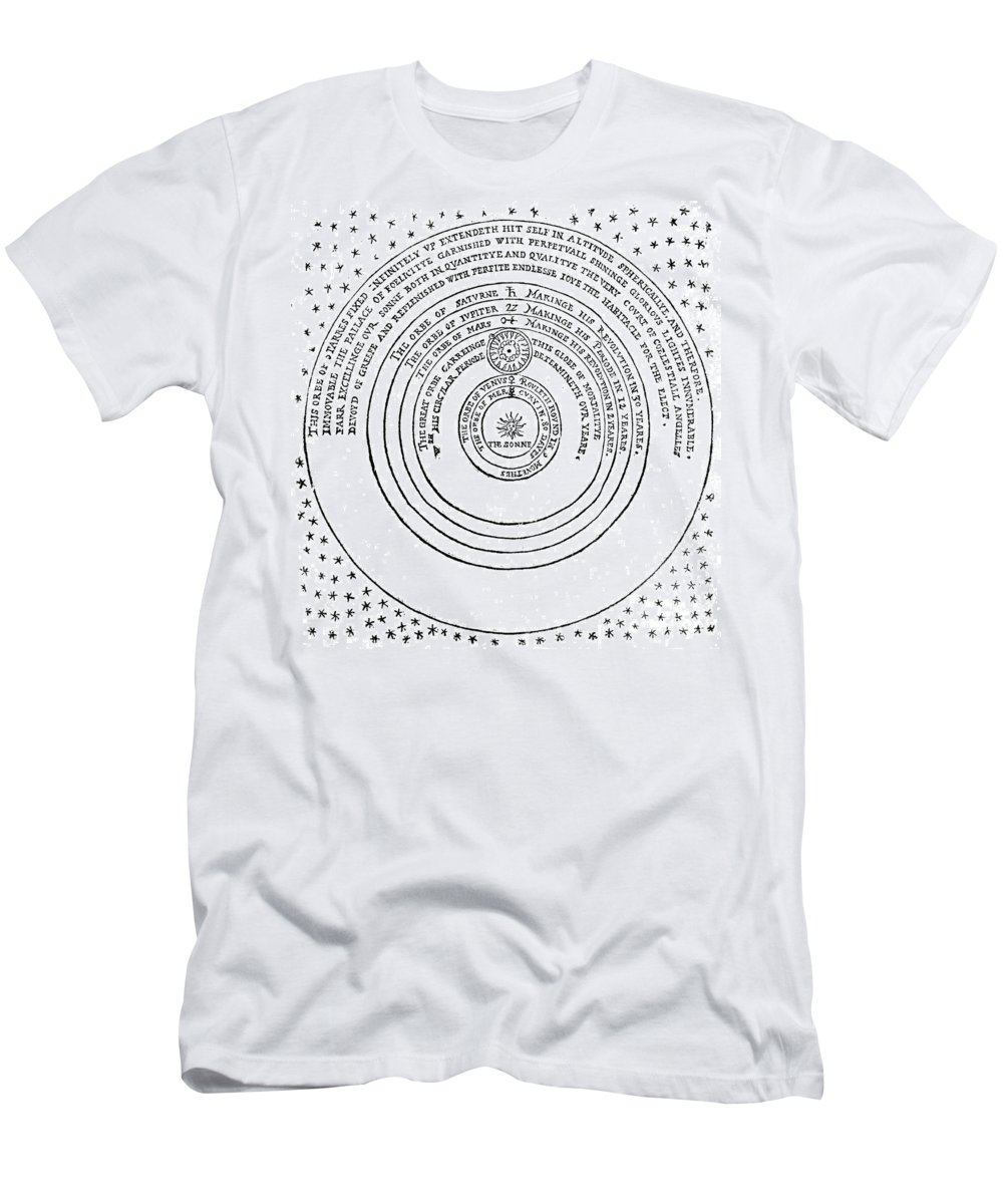 Historic Men's T-Shirt (Athletic Fit) featuring the photograph Heliocentric Universe, Thomas Digges by Wellcome Images