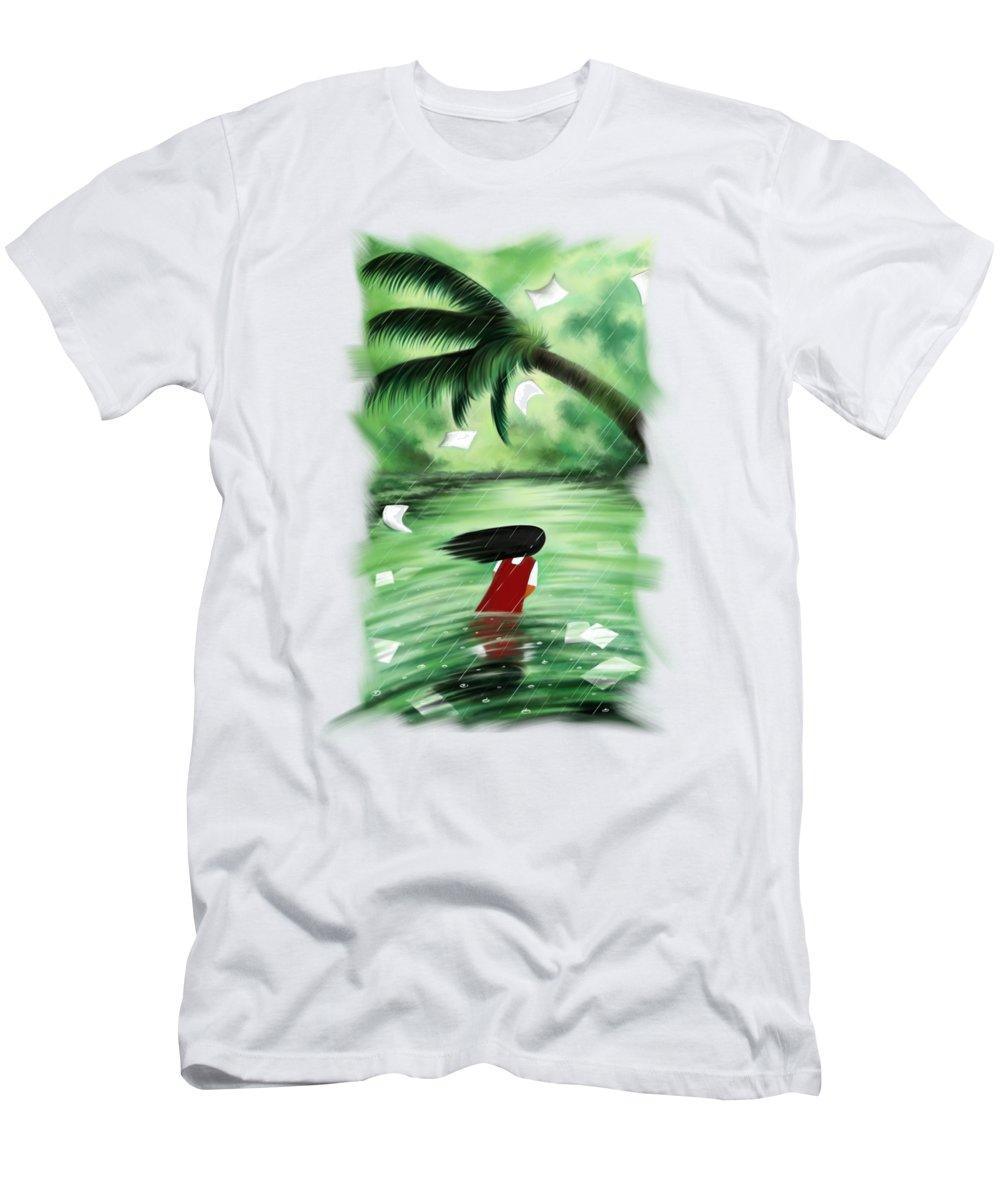 Coconut Trees Digital Art T-Shirts