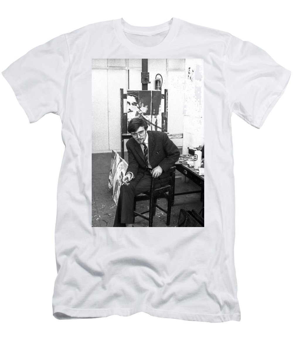 Men's T-Shirt (Athletic Fit) featuring the photograph Herbert Thoma 2 by Lee Santa