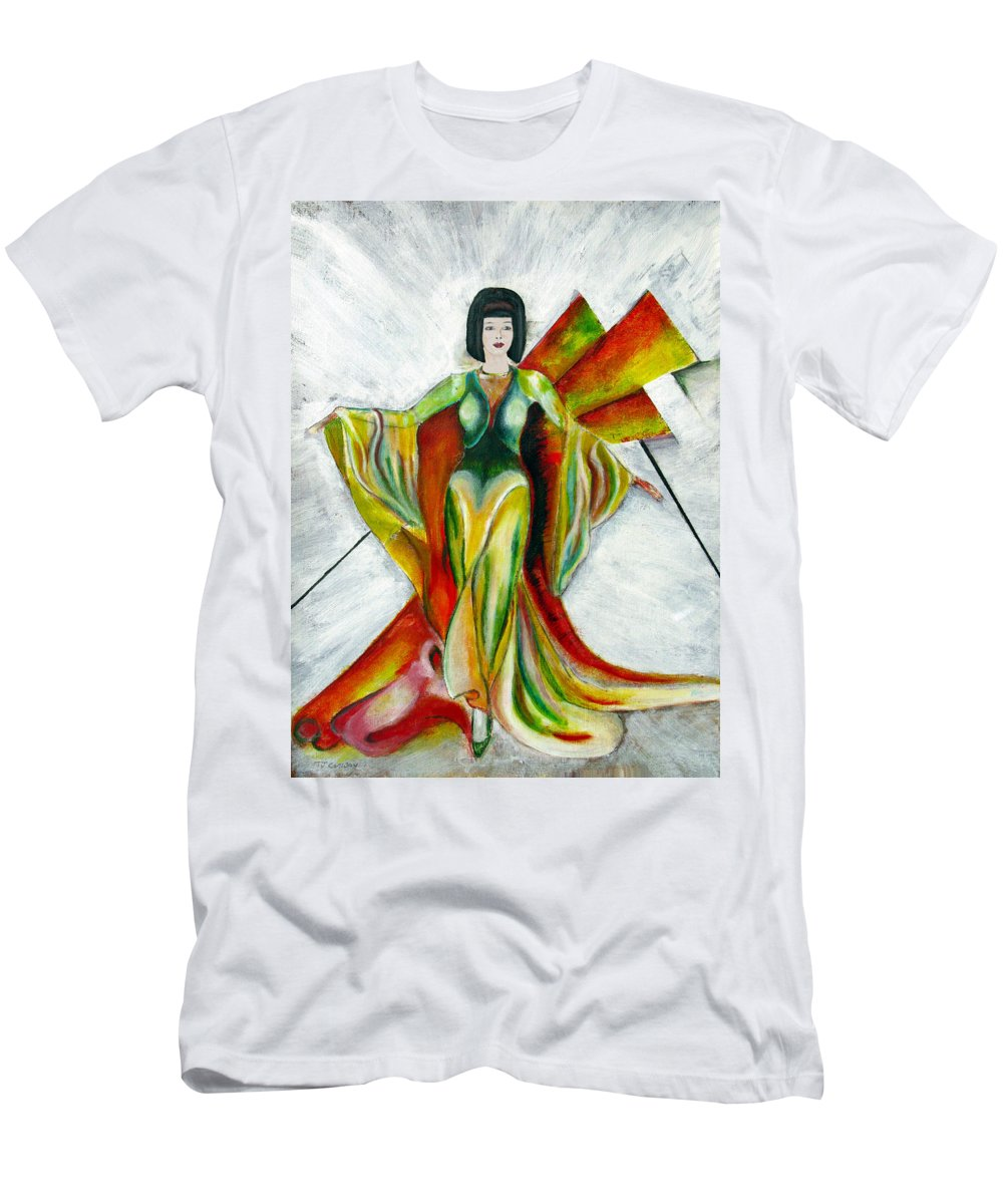 Dress Men's T-Shirt (Athletic Fit) featuring the painting Here Comes The Sun by Tom Conway