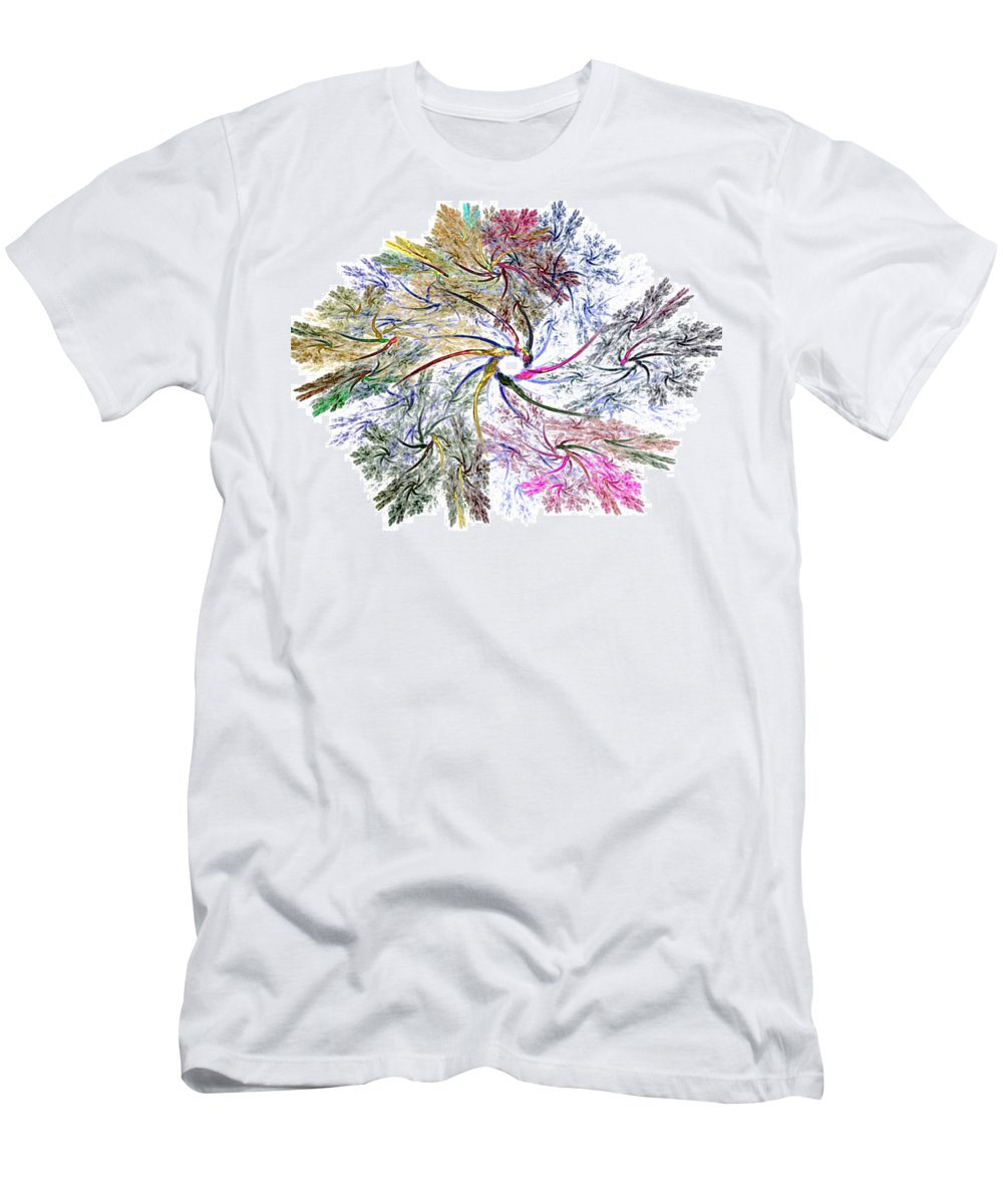 Fine Art Men's T-Shirt (Athletic Fit) featuring the digital art Here There Be Dragons by David Lane