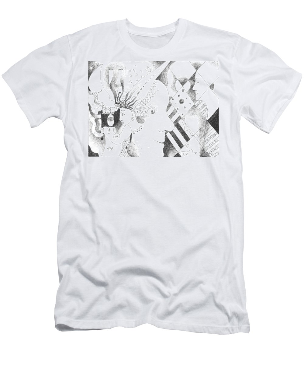 Human Genome Men's T-Shirt (Athletic Fit) featuring the drawing Heritage by Helena Tiainen