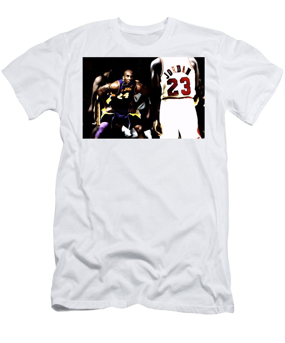 Michael Jordan T-Shirt featuring the digital art Heroes Come And Go But Legends Are Forever by Brian Reaves