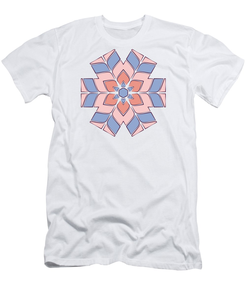 Rose Men's T-Shirt (Athletic Fit) featuring the tapestry - textile Hexagonal Flower Pattern by Jozef Jankola