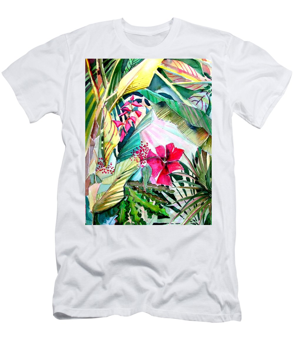 Tropical Men's T-Shirt (Athletic Fit) featuring the painting Hidden Beauty by Mindy Newman