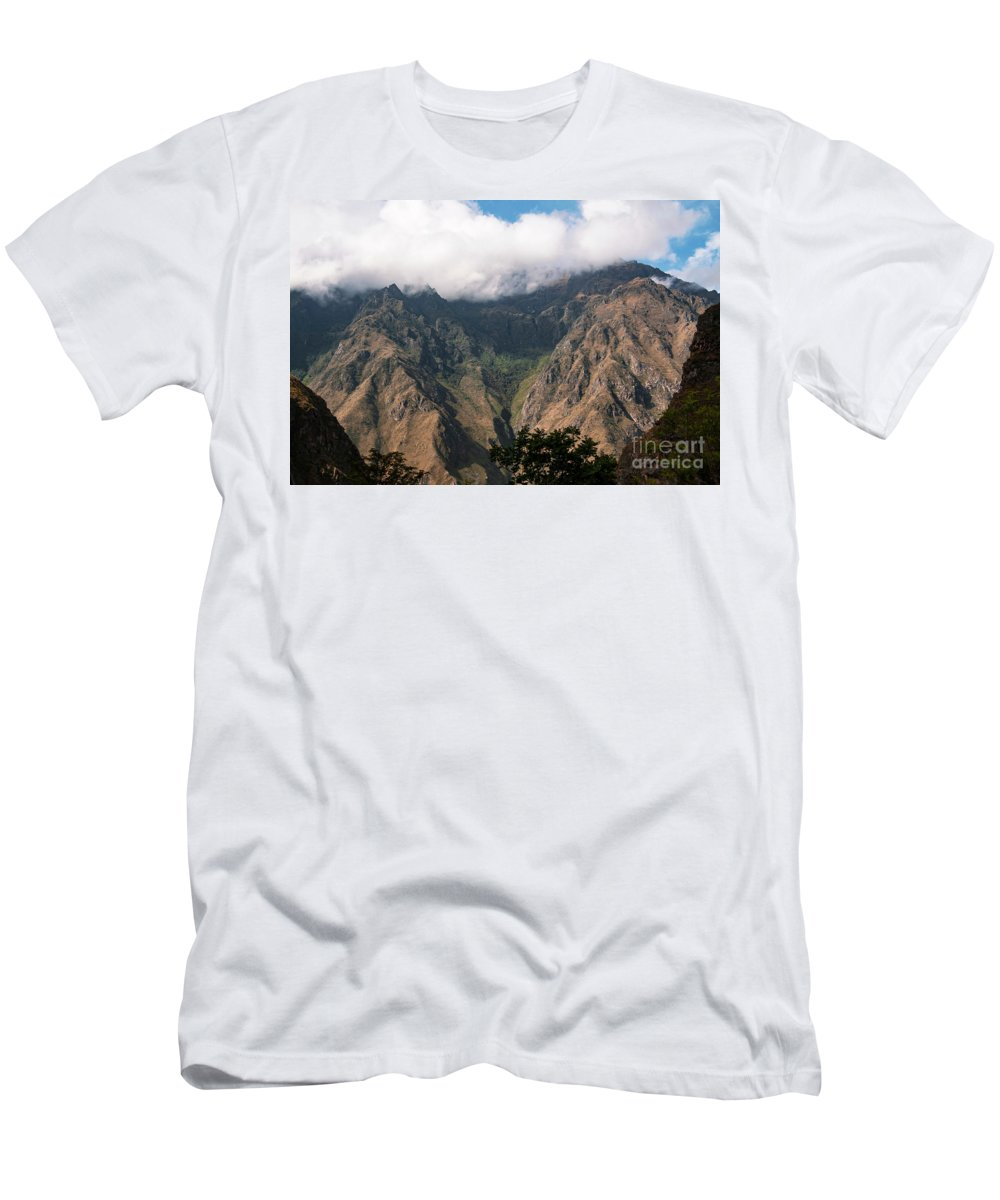 Peruvian Andes Men's T-Shirt (Athletic Fit) featuring the photograph High In The Andes by Bob Phillips