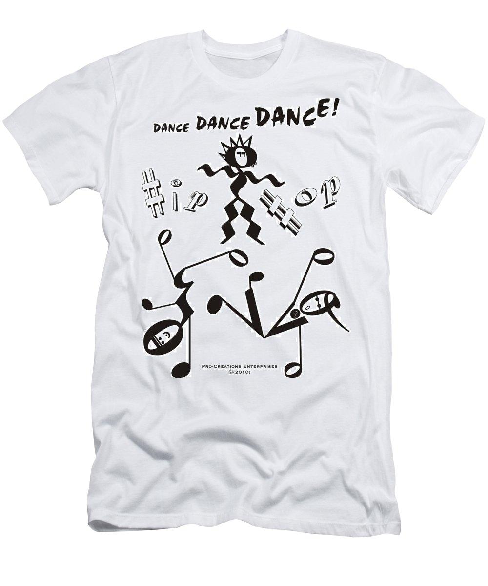 Digital Men's T-Shirt (Athletic Fit) featuring the digital art Hip Hop by Maria Watt