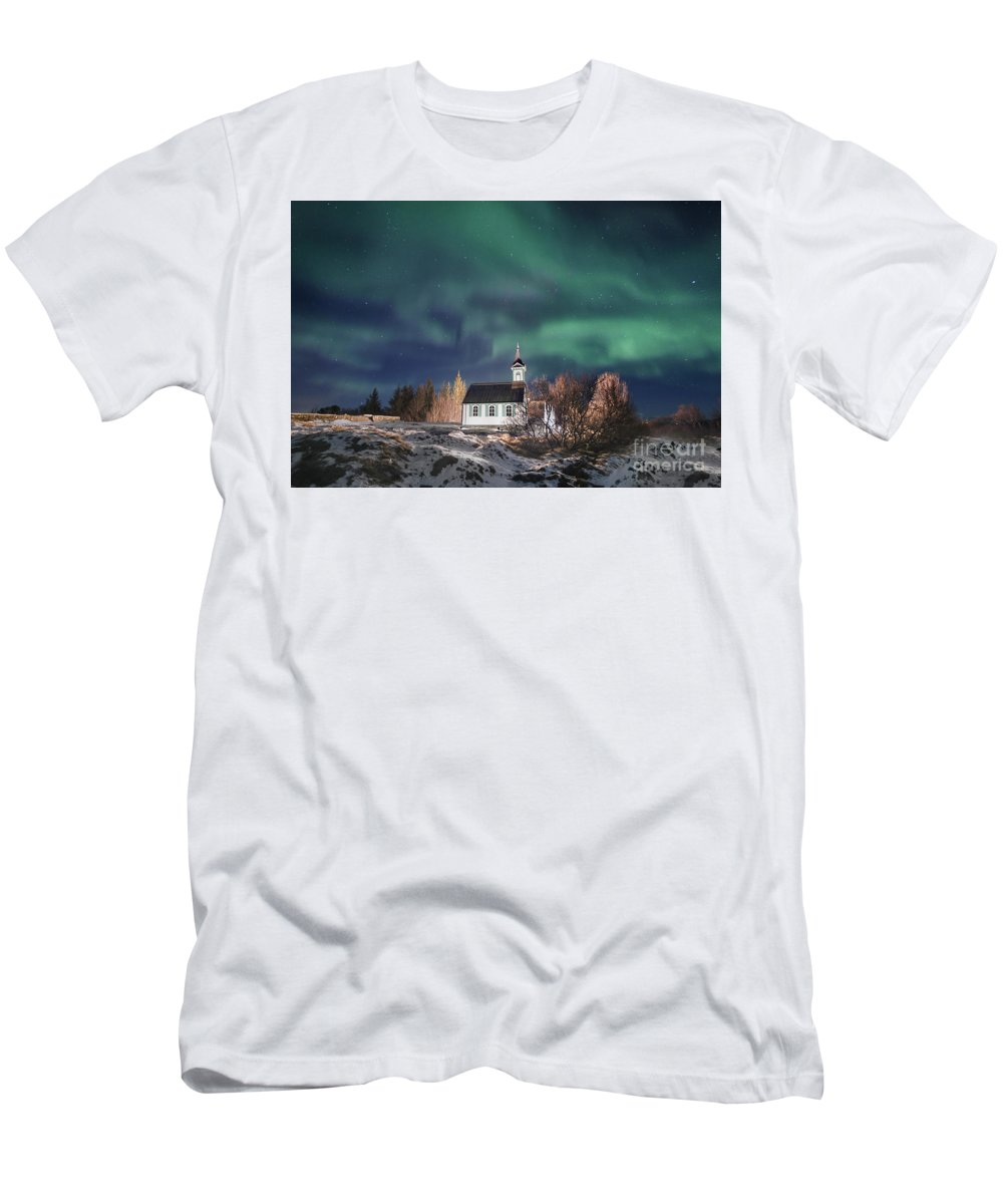 Kremsdorf Men's T-Shirt (Athletic Fit) featuring the photograph Holy Night by Evelina Kremsdorf