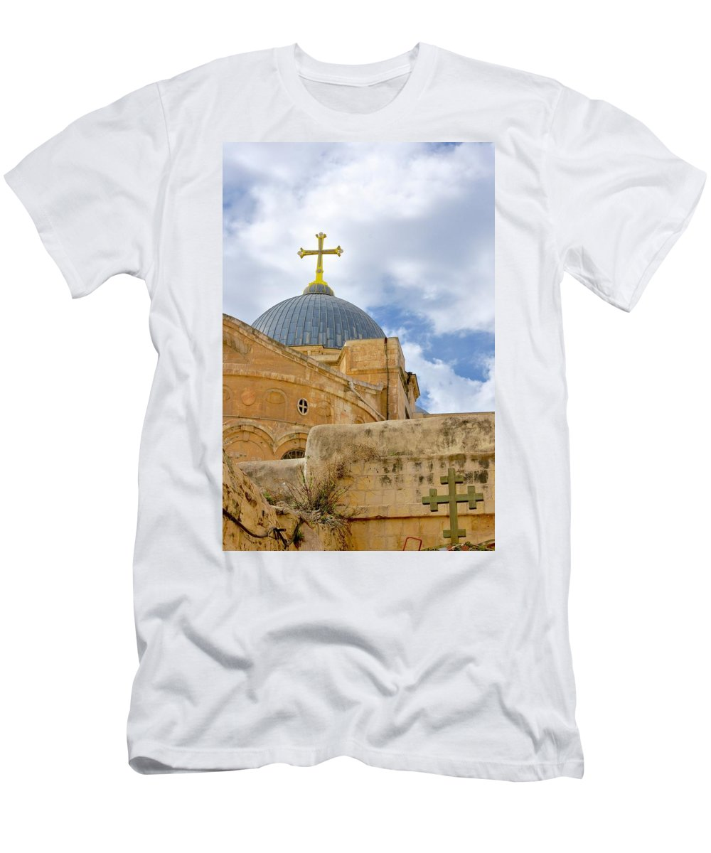 Church Of The Holy Sepulcher Men's T-Shirt (Athletic Fit) featuring the photograph Holy Sepulcher by Barbara Stellwagen