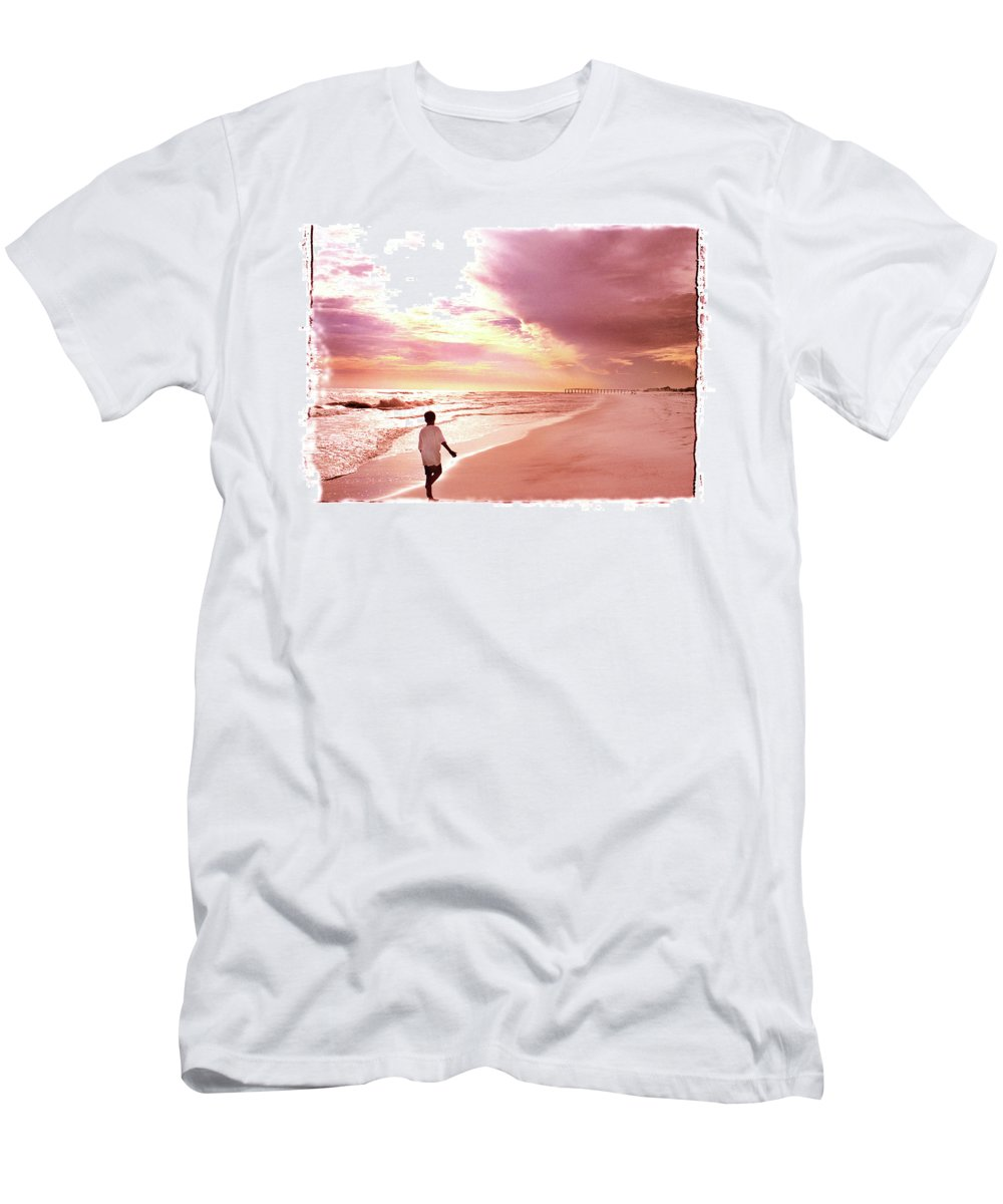 Sunset Men's T-Shirt (Athletic Fit) featuring the photograph Hope's Horizon by Marie Hicks