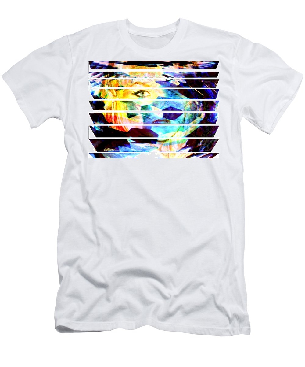 Woman Men's T-Shirt (Athletic Fit) featuring the digital art Horizontal View by Seth Weaver
