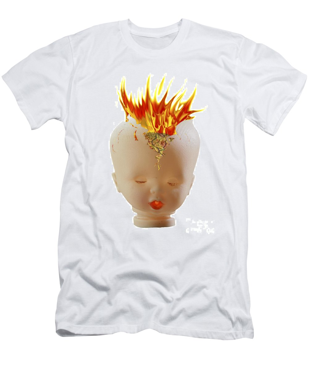 Image Men's T-Shirt (Athletic Fit) featuring the photograph Hot Head by Michal Boubin
