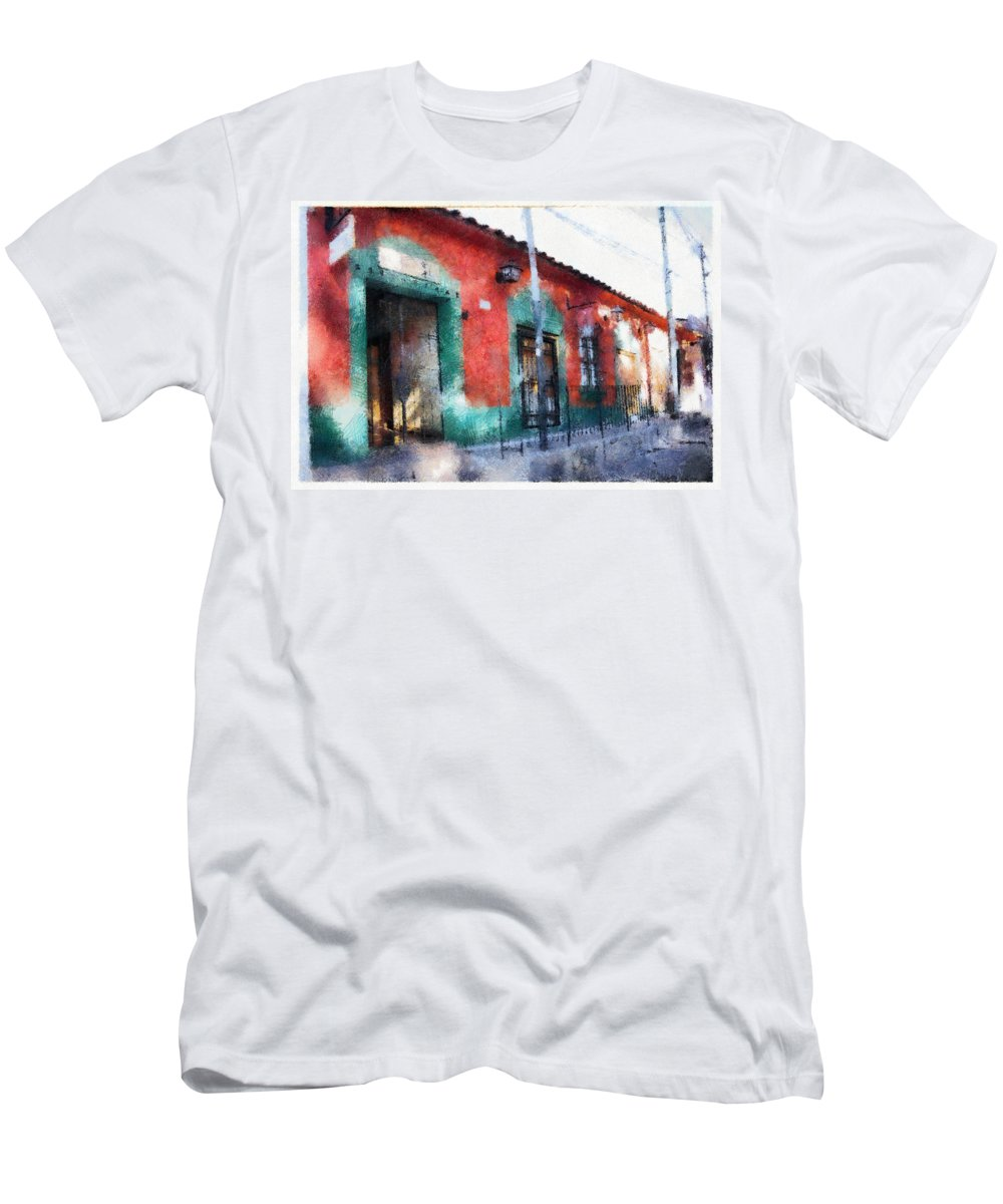 Men's T-Shirt (Athletic Fit) featuring the photograph House Of El Hatillo by Galeria Trompiz