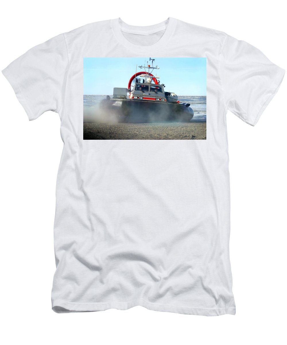 Hover Craft Men's T-Shirt (Athletic Fit) featuring the photograph Hover Craft by Anthony Jones