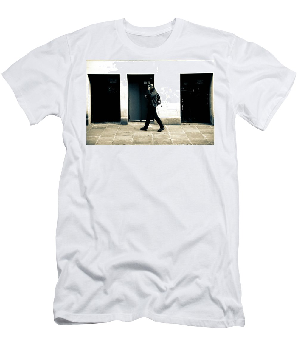 Saltaire Men's T-Shirt (Athletic Fit) featuring the photograph How It Has Become by Jez C Self