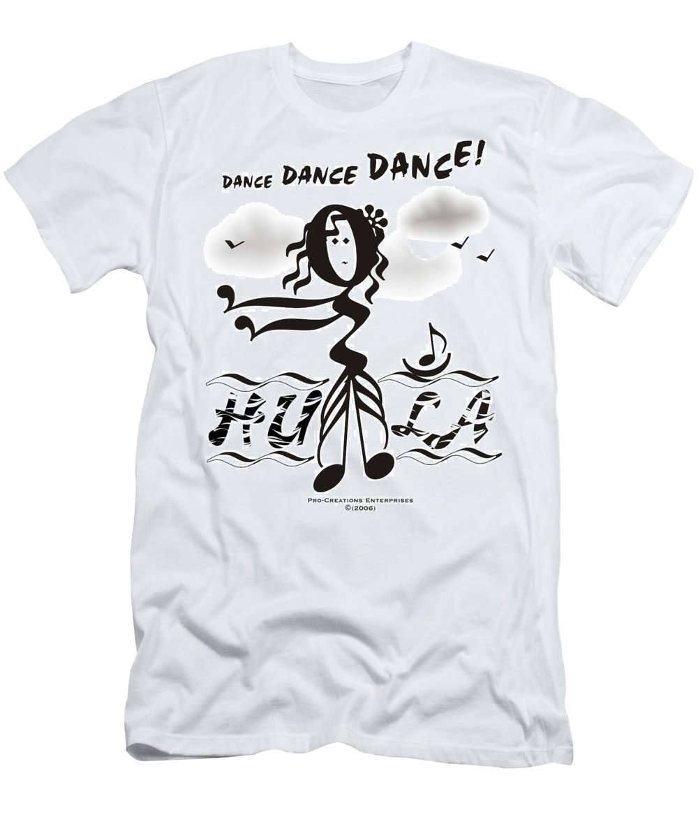 Digital Men's T-Shirt (Athletic Fit) featuring the digital art Hula by Maria Watt