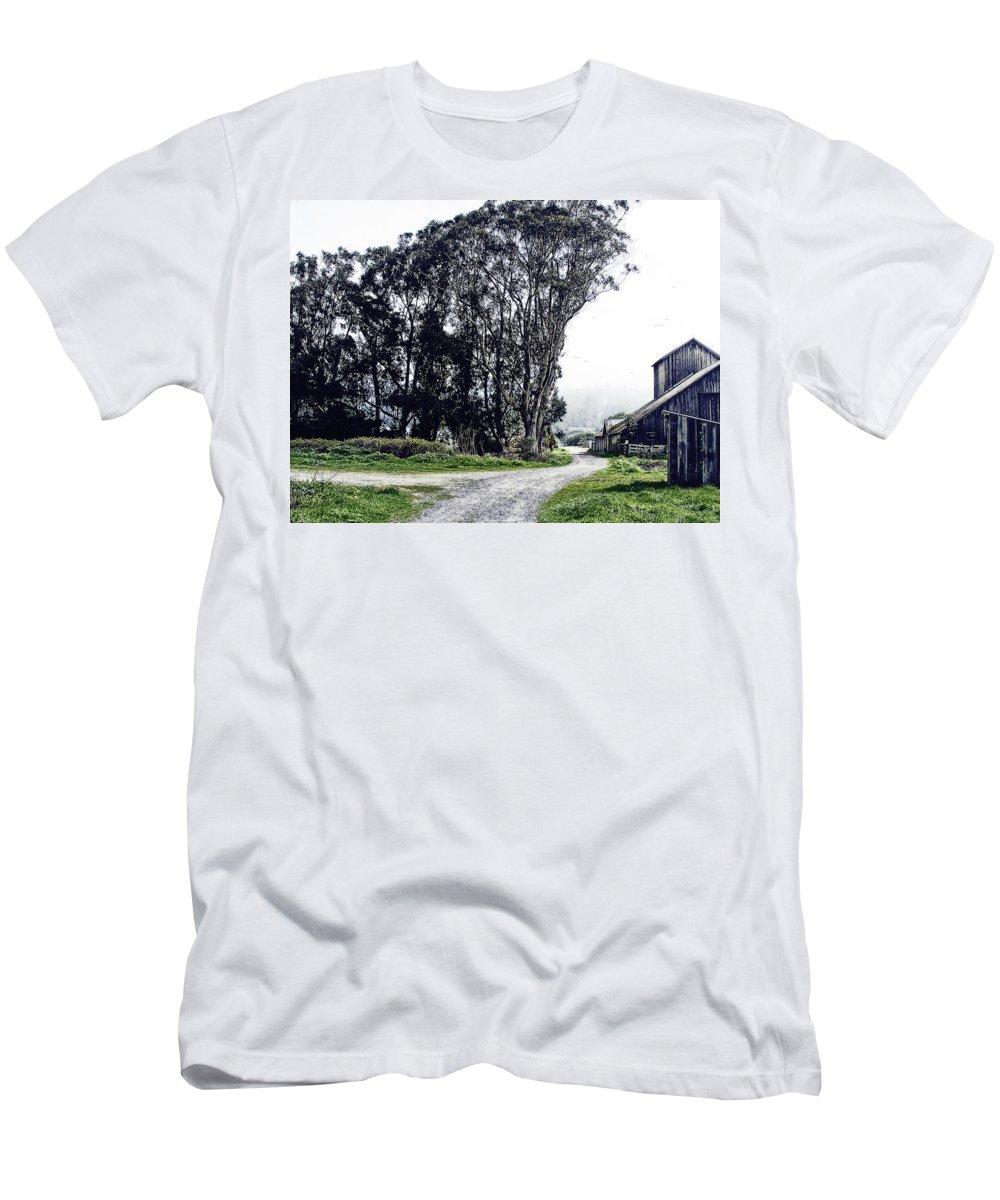 Humboldt Men's T-Shirt (Athletic Fit) featuring the digital art Humboldt Bay National Wildlife Refuge by  DonaRose