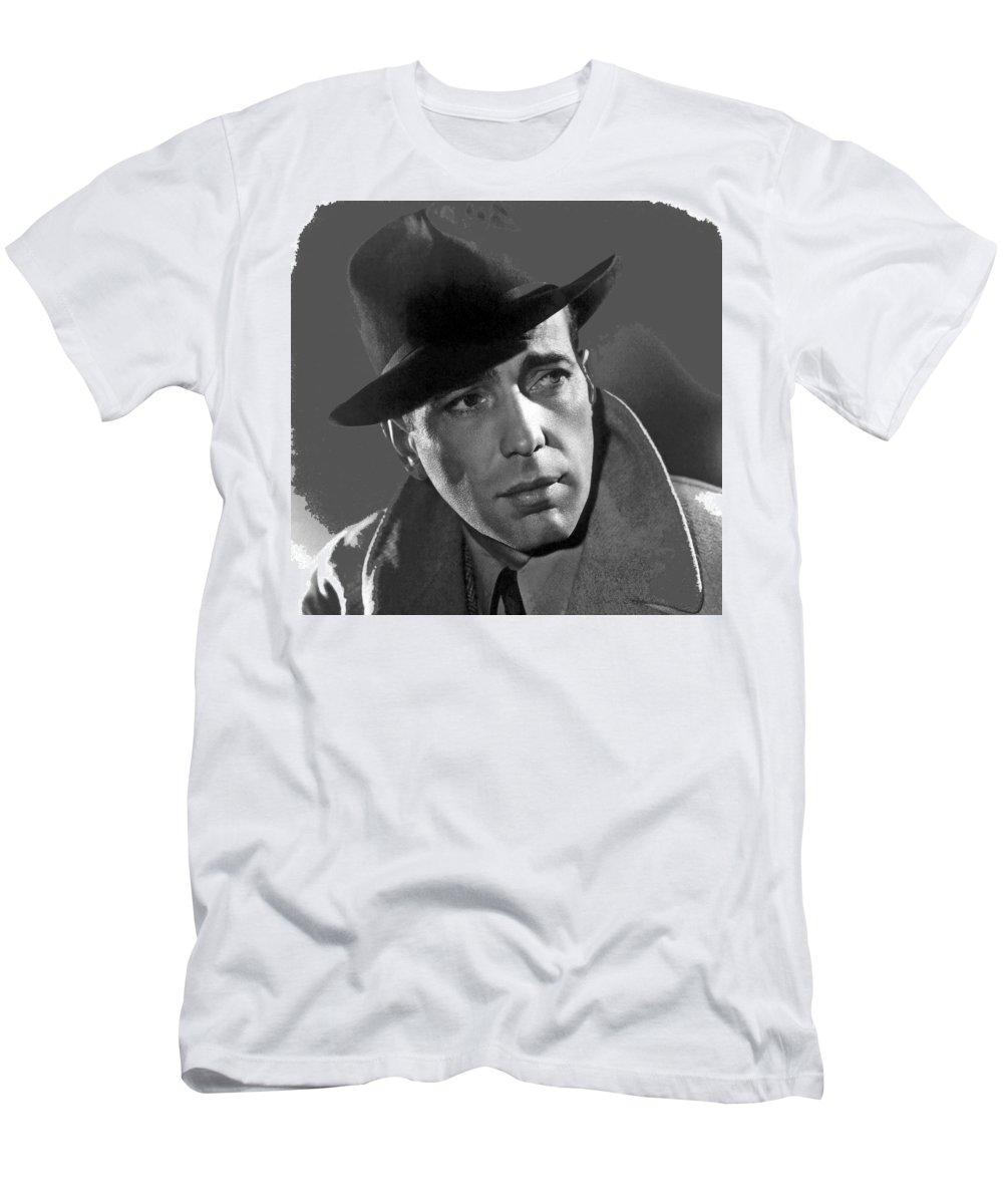 Humphrey Bogart Publicity Portrait Casablabca 1942-2016 Men's T-Shirt (Athletic Fit) featuring the photograph Humphrey Bogart Publicity Portrait Casablabca 1942-2016 by David Lee Guss