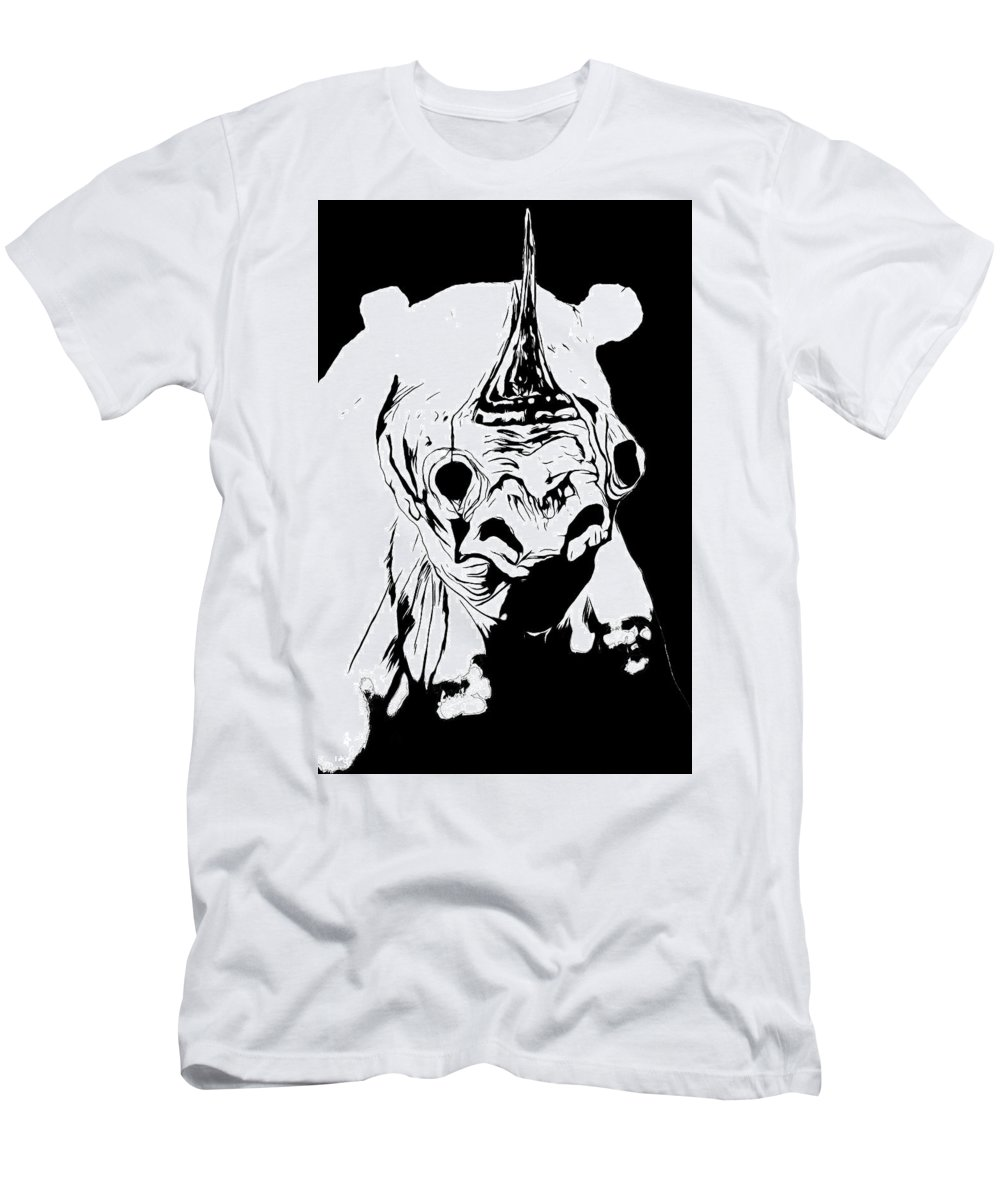 Men's T-Shirt (Athletic Fit) featuring the drawing I Am Rhino by Mau Tarwira