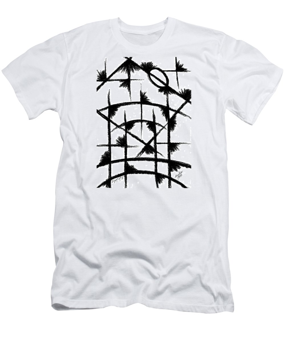 Modernist - Contemporany Men's T-Shirt (Athletic Fit) featuring the drawing I Got It I by Arides Pichardo