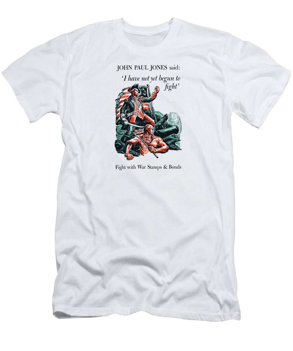 World War Ii Men's T-Shirt (Athletic Fit) featuring the painting I Have Not Yet Begun To Fight by War Is Hell Store