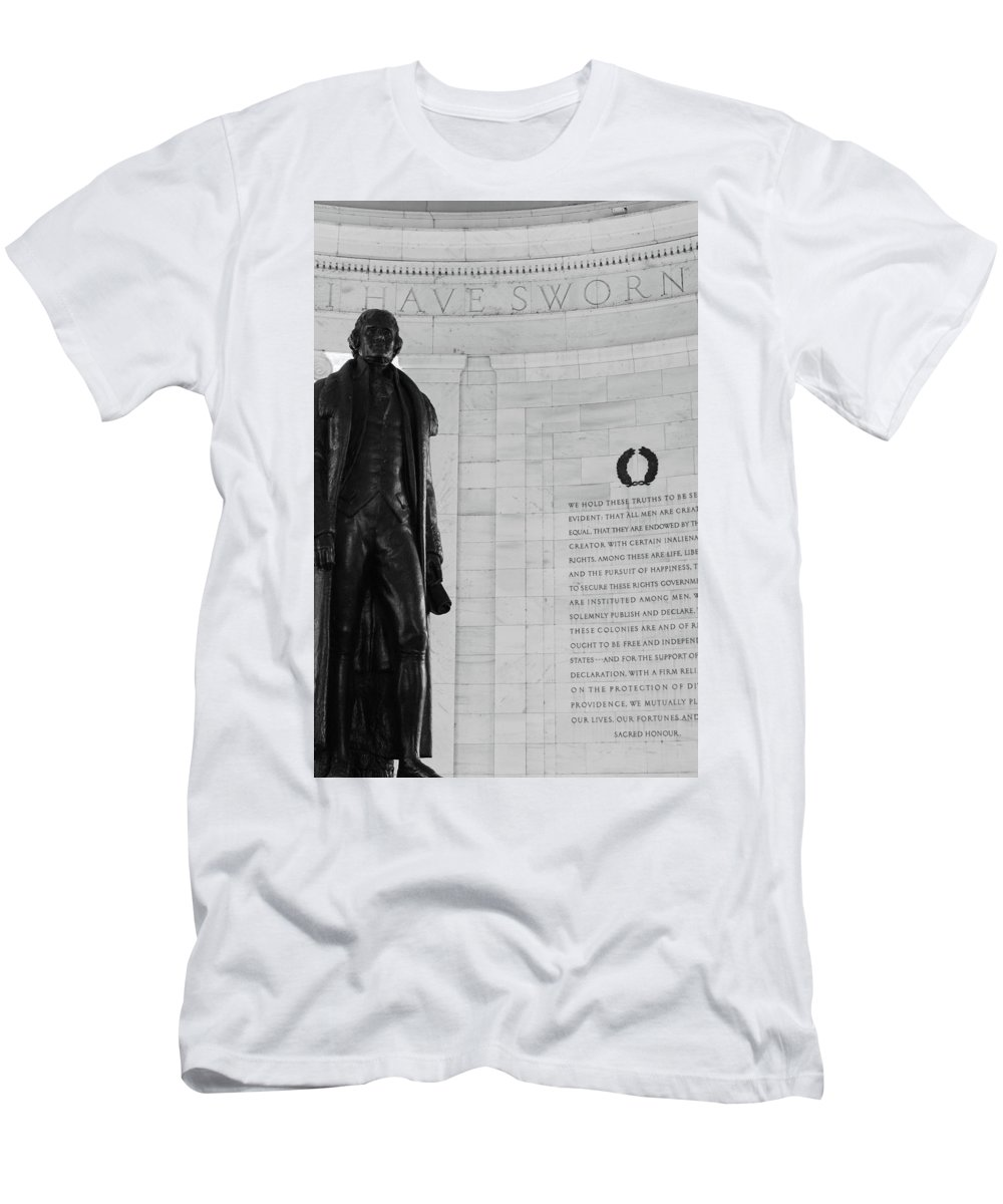 Jefferson Men's T-Shirt (Athletic Fit) featuring the photograph I Have Sworn by Jeff Heimlich