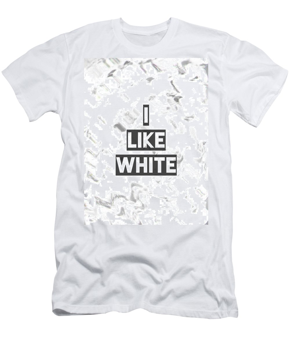 Wallpaper Men's T-Shirt (Athletic Fit) featuring the digital art I Like White by Colour Papers