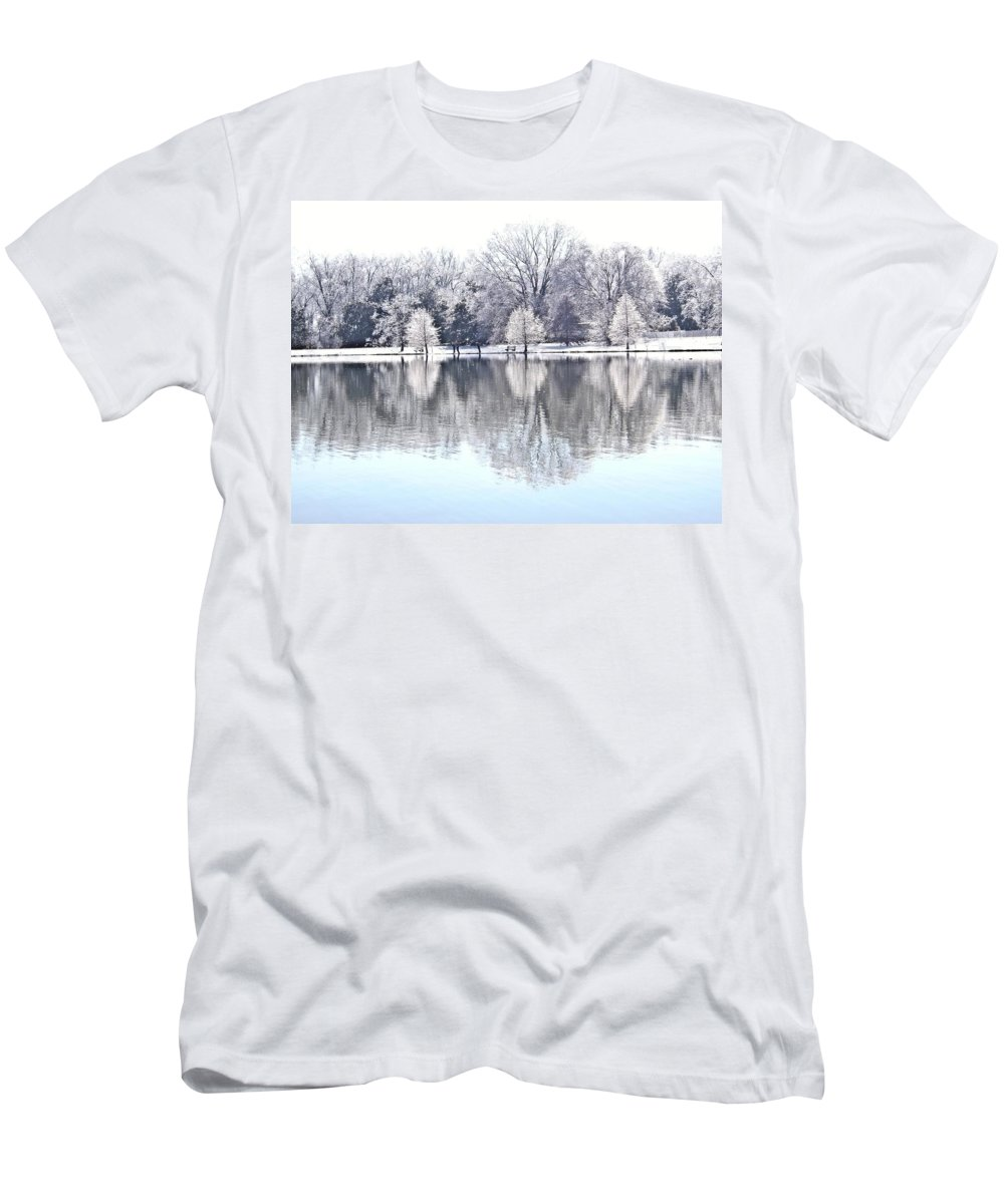 Ice Men's T-Shirt (Athletic Fit) featuring the photograph Ice Park by Charleen Treasures