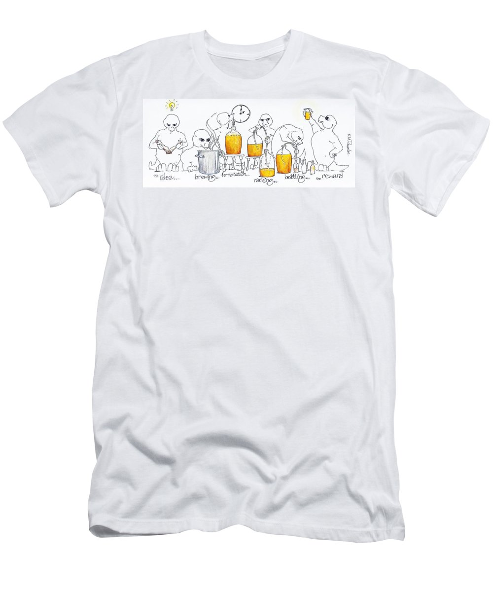 Beer Men's T-Shirt (Athletic Fit) featuring the drawing Ideas Brewing by K M Pawelec