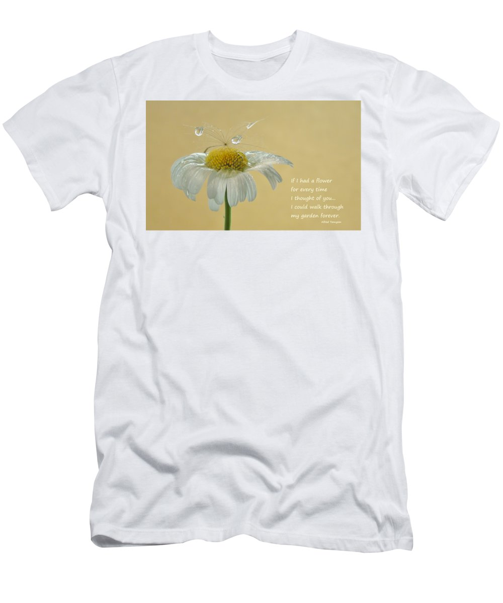 Flower Men's T-Shirt (Athletic Fit) featuring the photograph If I Had A Flower Quote by Barbara St Jean