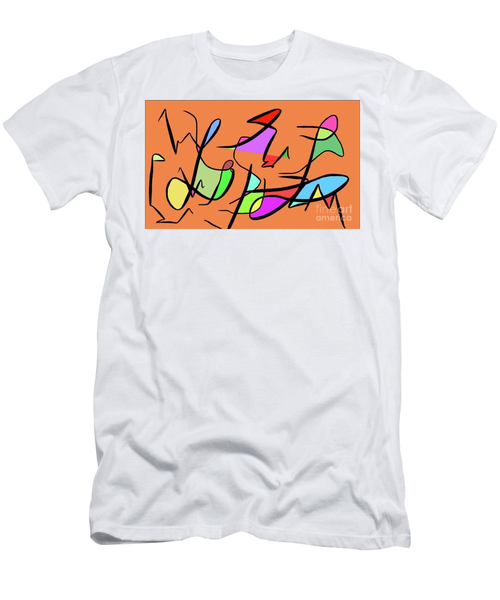 Abstract Art Color Imagination Simple Creative Men's T-Shirt (Athletic Fit) featuring the digital art Illusion by Derek Squared