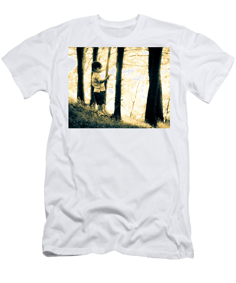 Human Men's T-Shirt (Athletic Fit) featuring the photograph Imagination And Adventure by Bob Orsillo