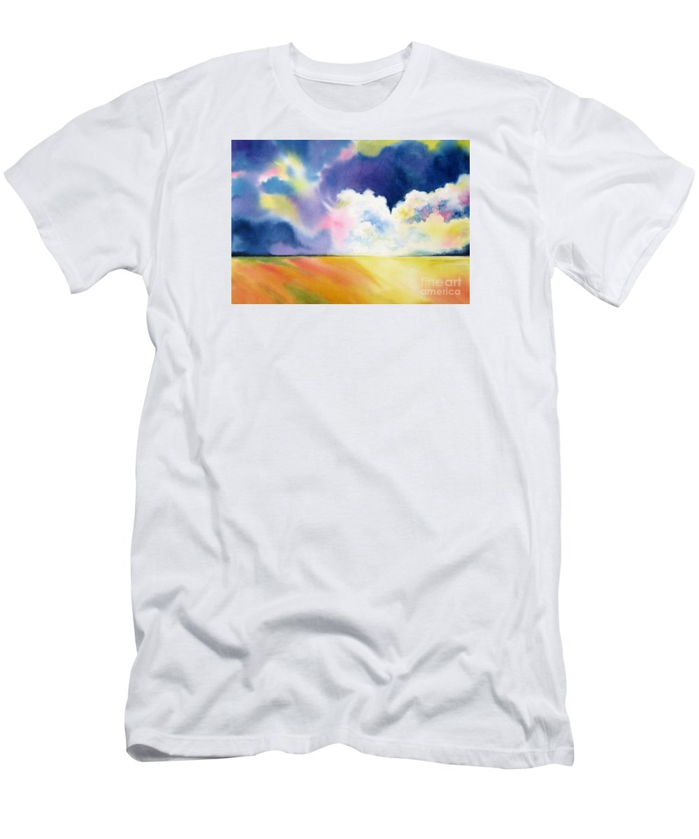 Storm Men's T-Shirt (Athletic Fit) featuring the painting Impending Storm by Deborah Ronglien