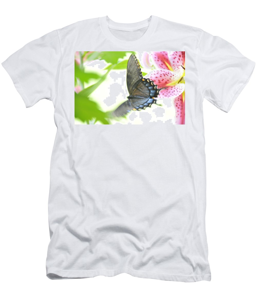 Butterfly Men's T-Shirt (Athletic Fit) featuring the photograph In Flight 2 by David Arment