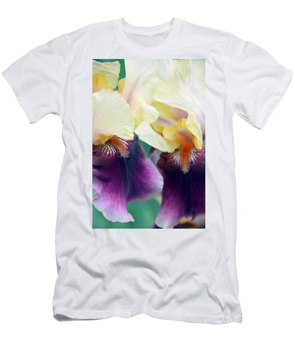 Iris T-Shirt featuring the photograph In Love With Iris by Angelina Tamez