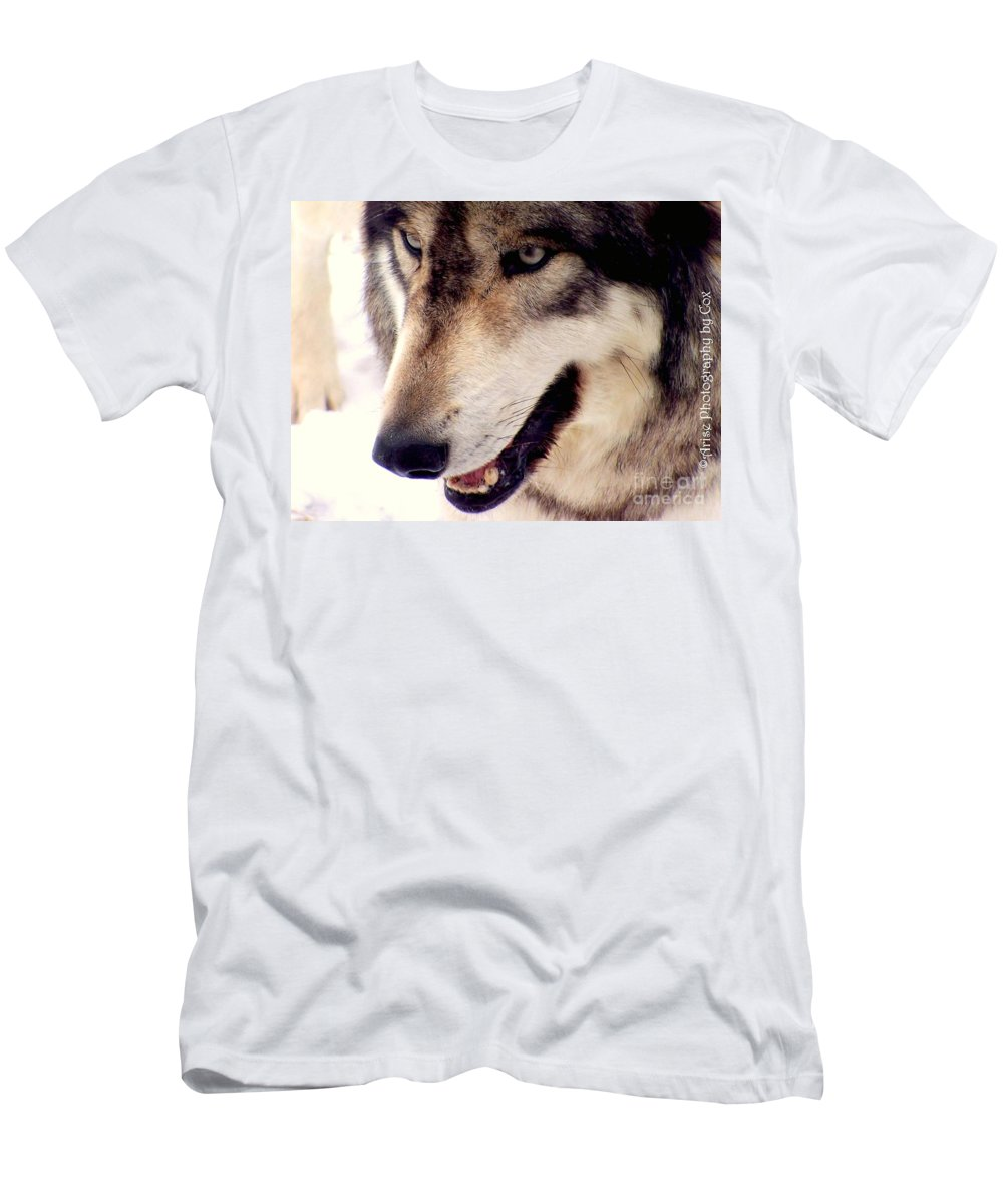 Eyes Men's T-Shirt (Athletic Fit) featuring the photograph In The Eyes Of The Wolves by Charlene Cox